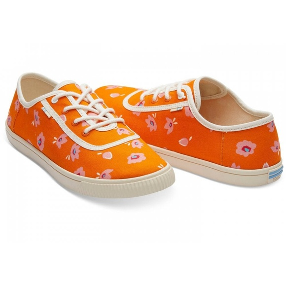 Toms Shoes - Toms Carmel Persimmon Spring Flower Print Sneakers
